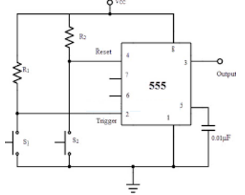 Draw circuit diagram of Bistable multivibrator using IC ...